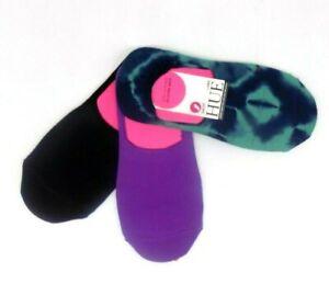 Hue High Cut Hidden Liner Socks Tie Dyed Pacific Pack 3 Pair Pack MSRP $16.00