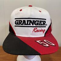 Greg Biffle Grainger Racing Hat Snapback Cap Vintage 90s NASCAR Auto Car Men USA
