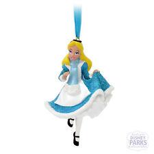 Disney Parks Alice in Wonderland Curtsy Glitter Dress Ornament Christmas