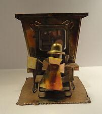 Vintage Copper Tin Piano Player Music Box