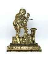 Large Victorian antique brass fireplace ornament or doorstop. 2.2kg's. Busker