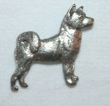 AKITA Dog Fine PEWTER PIN Jewelry Art USA Made