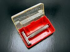 Vintage  Gillette Safety Razor Super Speed Double Edge In Case Pre Date Code