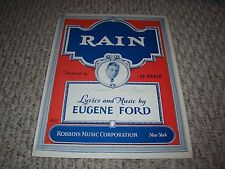 1927 Rain Eugene Ford Featured by Al Kvale Sheet Music Robins Music Corporation