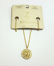 ACCESSORIZE Z, ROSE QUARTZ & CRYSTAL NECKLACE,  GOLD PLATED