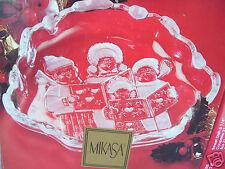 """Mikasa Crystal Carolers SA 987/210 Sweet Dish 8 1/4"""" New In Box Made In Germany"""