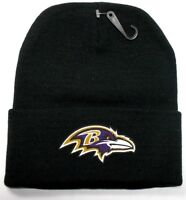 READ LISTING! Baltimore Ravens HEAT Applied Flat Logo on Beanie Knit Cap hat