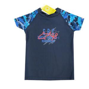 Kanz Bademode Badeshirt Beach Shirt Blau Kinder Jungen Gr. 104, 110,116,122,128