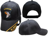 U.S. Army Airborne Air Assault Embroidered Black Baseball Cap Hat