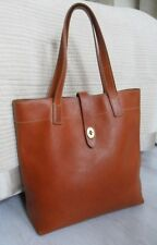 Fossil Austin Rich Tan Leather Tote Shopper Shoulder Bag Work Uni