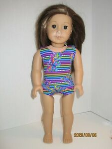 "Stripes & Butterflies Swimsuit for 18"" Doll Clothes American Girl"