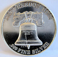 CROWN MINT FREEDOM RING TRADE UNIT .999 FINE SILVER LIBERTY BELL OLD 1 TROY OZ