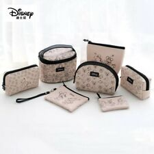 Fashion Disney Mickey Mouse Cream Canvas Make Up Cosmetic Novelty Travel Bag