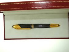 MUST DE CARTIER 1992 COUGAR CABOCHON FOUNTAIN PEN W/18K GOLD NIB BOX & PAPERS