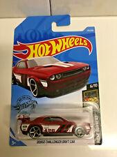 2019 Hot Wheels Nightburnerz 6/10 Dodge Challenger Drift Car RED 179/250 NIP