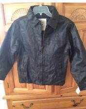 women's original Arizona jean comp black jacket faux leather size medium (10-12)