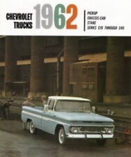 CHEVROLET 1962 Truck Sales Brochure 62 Chevy Pick Up