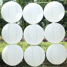 5 Pcs White Chinese Round Paper Lanterns Lamp Shade Wedding Birthday Party Decor