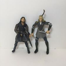 Legolas & Aragorn 2 Toybiz Lord of the Rings Action figures 2002