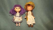 Vintage Holly Hobbie Doll & Eugene Gumdrop Doll with Purple Hair