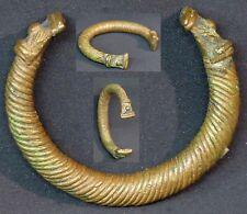 Art d'Afrique superbe bracelet en bronze patiné 48g 7cm bijou ancien rare déco