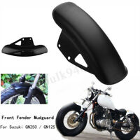 Motorcycle Front Fender Mudguard Fairing Cover Black For Suzuki GN125 GN250