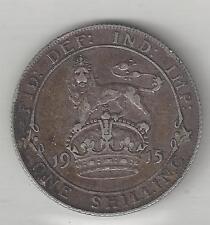 GREAT BRITAIN, 1915, SHILLING,  SILVER,  KM#816,  EXTRA FINE