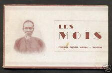 Mois booklet TEN postcards Natives Indo-Chine Vietnam 20s