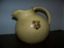 Ball Pitcher Vintage PALE YELLOW USA Water Jug w/ Ice Lip HALL 633? OLD GEM!