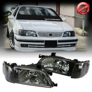 Headlight and Corner Light Set For Toyota Tercel L50 MK5 1995-1999 Black