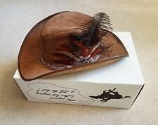 ***NEW***  Winfield Cover Western Cowboy Brown Suede Leather Hat  #46 XL NIB