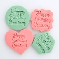 Personalised Happy Birthday Embosser Fondant Stamp Cookie Cutter Large 7.5cm Cm