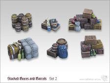 Kisten und Fässerstapel Set 2 - *Tabletop Art*