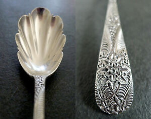 Rare 1875 Tiffany & Co Sterling Antique aka Custom Engraved Berry/Preseve Spoon