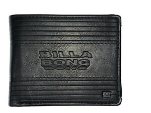 Men's / Boy's Billabong Junction Black PU Flip Wallet. RRP $27.99. NWT.
