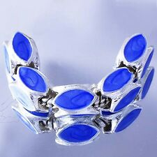 5Pcs Silver wholesale charms lot blue Enamel Beads Fit European Bracelet