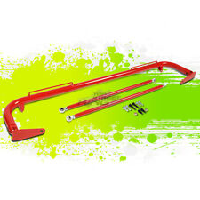 """RED 49"""" ADJUSTABLE MILD STEEL SAFETY SEAT BELT HARNESS BAR WITH SUPPORT RODS"""