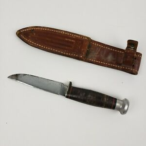 """Vintage Case hunting knife 5"""" fixed blade, tang stamp dates 1940-1965"""