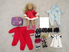 LOT OF AMERICAN GIRL DOLL (BLOND BROWN EYES) AND ACCESSORIES CLOTHES SHOES