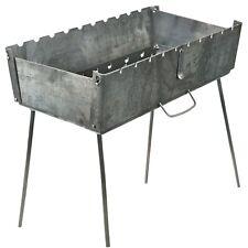 Schaschlik Grill, Mangal (Мангал) aus 3 mm Stahl für unterwegs Camping Angeln