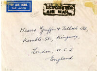 Thailand Early Flown Cover To London Various Markings