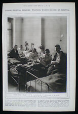 RUSSIAN ARMY WOMEN'S BATTALION OF DEATH IN HOSPITAL WW1 PHOTO STUDY ARTICLE 1917