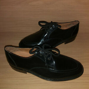 Clifford James SECONDS 100% Leather Classic City Shoes Mens UK 9 Black Goodyear