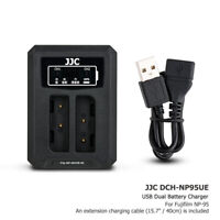 USB Dual Battery Charger fits NP-95 for Fujifilm X30 X100T X100S X100 X-S1 F30