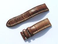 22mm Breitling Band 739P 22/20 Croco braun brown Strap für Dornschliesse 060-22