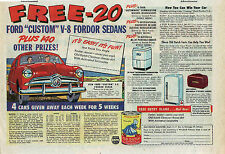 Vintage 1948 ad for Ford autos - Dutch Cleanser contest, win a V-8 Fordor Sedan