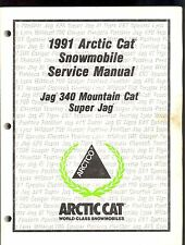 1991 ARCTIC CAT JAG 340 / MOUNTAIN CAT/ SUPER JAG SNOWMOBILE SERVICE MANUAL