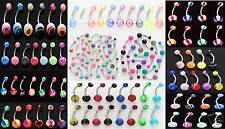 100 14g Belly Button Rings WHOLESALE Body Jewelry Lot All Different No Duplicate