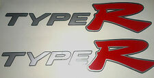 Honda Civic Type R Side Skirt stickers silver with red R x 2