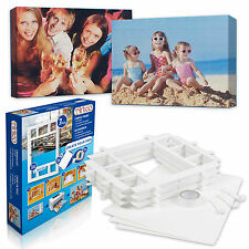 7pcs Create Your Own A4 DIY Wall Canvas Picture Frames Kit Tape Arts & Craft Fun